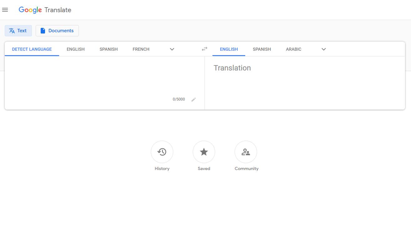 تاریخچه گوگل ترنسلیت